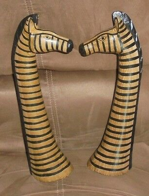"""Wooden Zebra Heads / Hand Carved ~ Hand Painted 12"""""""