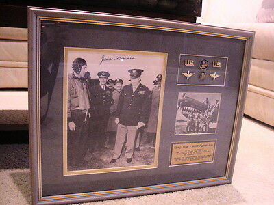 Flying Tiger Ace James H. Howard, Moh Winner, Signed Matted Picture.