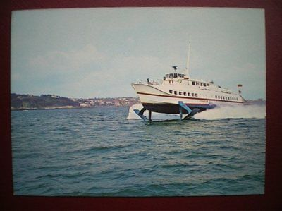 Postcard Hovercraft Hydrofoil Condor 1 Operated In The Channel Islands