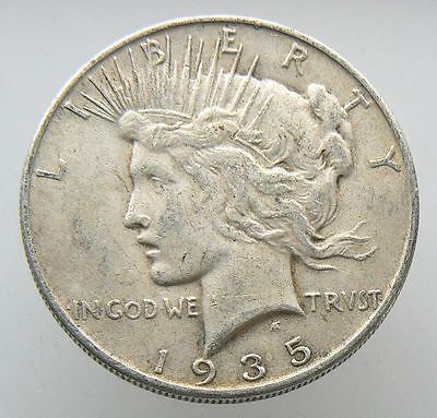 1935-S Peace Liberty Silver One Dollar Coin