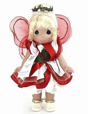 Disney Parks Precious Moments Enchanted Tinker Bell Christmas Doll No. 5331