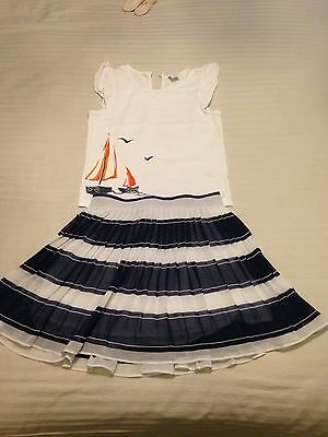 janie and jack Outfit Skirt And Top Girls Size Age 5