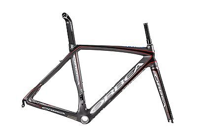 Brand New 2013 Orbea Orca Silver Carbon Road Bike Bicycle Frameset Kit Grey Red
