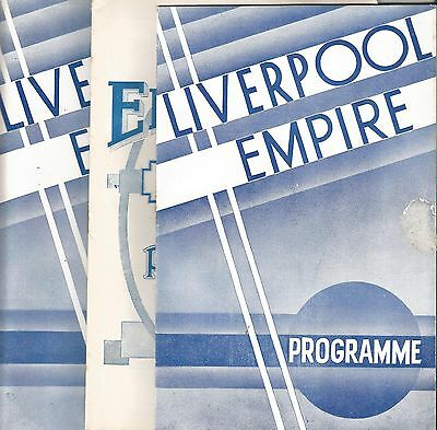 3 Empire Palace Programmes  L/pool  1934/6/  Sandy Powell Wee Georgie Wood.