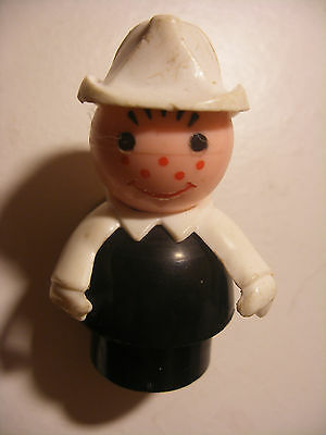 Vintage fisher price little people personnage figurine figure POMPIER Firemen