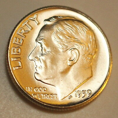 1959 P Roosevelt Dime * Brilliant Uncirculated * - Bu - Free Shipping