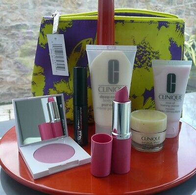 CLINIQUE Bonus Time - 6 items in Cosmetic Bag NEW
