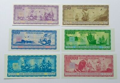 Redonda set 6 banknotes 2013 UNC (private issue)