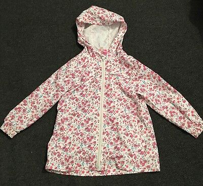 White And Pink Floral Coat, Age 2-3 Years