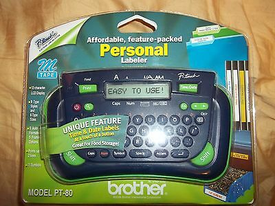 Brand New Brother PT-80 P-touch Electronic Labeling System