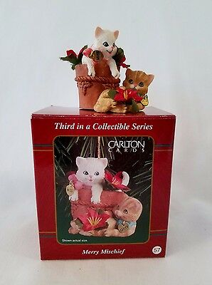 Carlton Cards Merry Mischief - Heirloom Collection Ornament - Cats  # 3