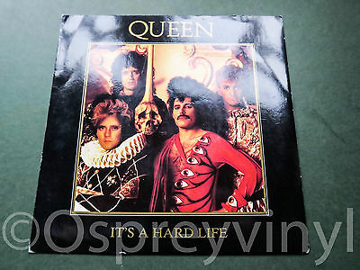 """Queen It's a hard life original 2nd issue Over printed sleeve UK 7"""" vinyl single"""