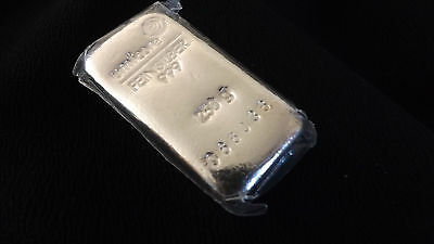 Umicore Fine Silver Bar 0.250 Kg Bullion Proof Mint Seal Pls. See