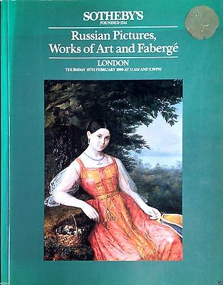 Sotheby's Catalog RUSSIAN PICTURES, WORKS OF ART & FABERGE 13 Feb. 1986 London