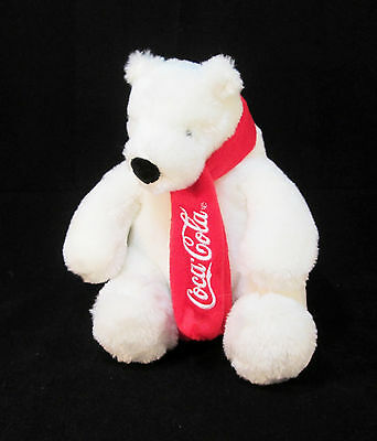 "8"" Russ Berrie Coca-Cola®  Company Plush Polar Bear - Stuffed Animal Coke Teddy"
