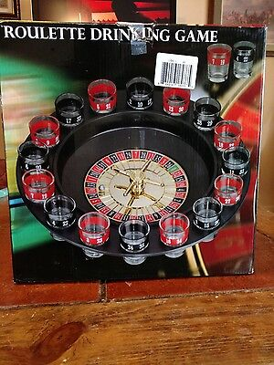 Adult Roulette Drinking Game Roulette Wheel and Shot Glasses Party Game