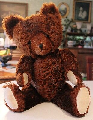 "Old 22"" Brown Mohair American Toy Novelty Co Character Bear"