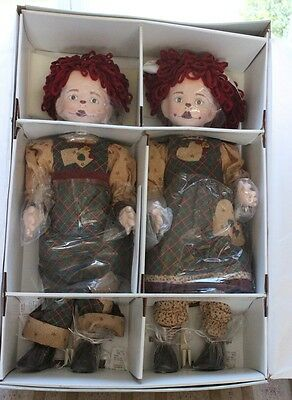 "RARE The Heartland Mint Collection 26"" Raggedy Ann & Andy Dolls Limited Edition"