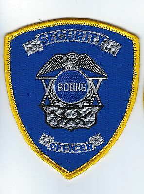 Boeing Security Officer gold border patch - NEW!