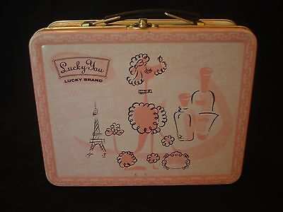 Lucky You Lucky Brand Metal Lunch Box