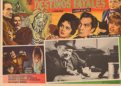 TALES OF TERROR Mexican Lobby Card Film/Movie Poster VINCENT PRICE, PETER LORRE