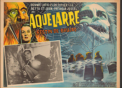 HORROR HOTEL / AQUELARRE Mexican Lobby Card Film/Movie Poster CHRISTOPHER LEE