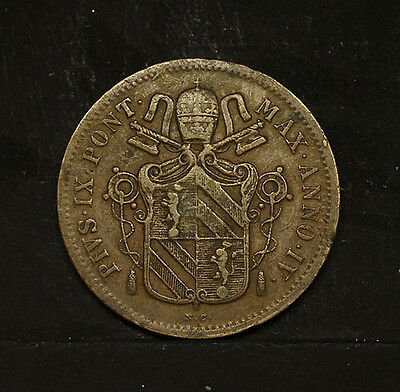 Papal state - Vatican -  1 baiocco 1850  VF+