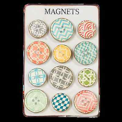 Button Fridge Magnets - Pack of 12