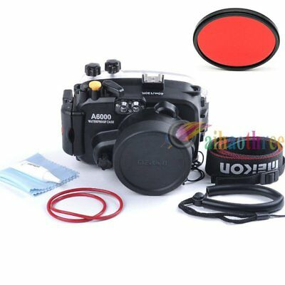 Meikon 40m 130ft Waterproof Diving Housing Case For Sony A6000 16-50mm Camera