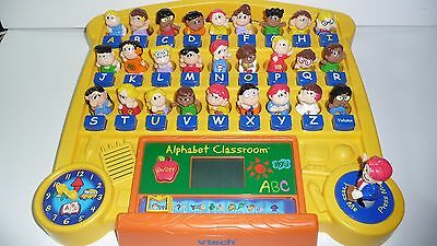 vtech Alphabet Classroom Interactive Educational Preschool Learning Console Used