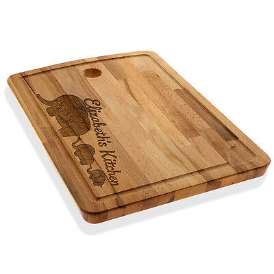 Personalized Cutting/Chopping Board Elephant Family Cheese Board Serving Tray