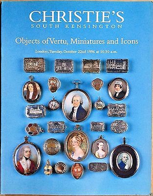 Christie's Catalog OBJECTS OF VERTU, MINIATURES & RUSSIAN ICONS October 1996 UK