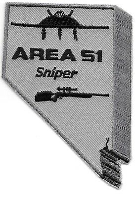 "*NEW*  Area 51 - Sniper, Nevada (3"" x 4"") shoulder police patch (fire)"