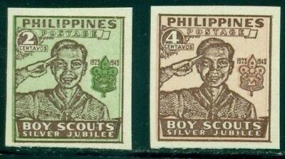 Philippines Scott #528-529 MNH Boy Scouts in Philippines 25th Ann IMPERF CV$5+