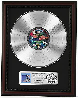 """Dire Straits Brothers In Arms Lp Record Framed Cherrywood Display """"k1"""""""