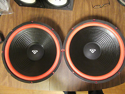 """New 15"""" Vintage Cerwin style replacement woofers w/ red surround"""