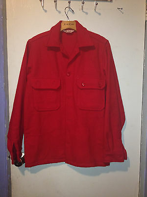 Vintage BSA Boy Scouts Official Jacket Red Wool Shirt  Size 20  #552