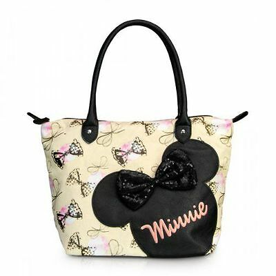 NWT Loungefly Minnie Mouse with Sequins Appliqued Bow Tote Bag