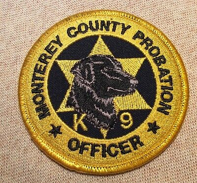 CA Monterey County California K-9 Unit Probation Officer Patch (3.5In)