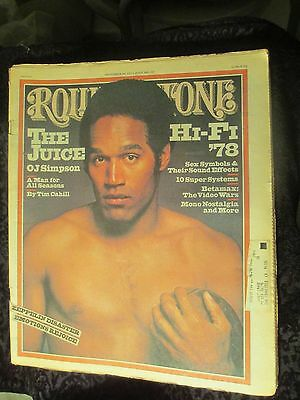 Vintage Sept. 8, 1977 Rolling Stone issue #247 The Juice O.J. Simpson Betamax