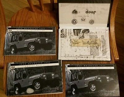 1995 Jeep Wrangler Owners Manual book with original packet