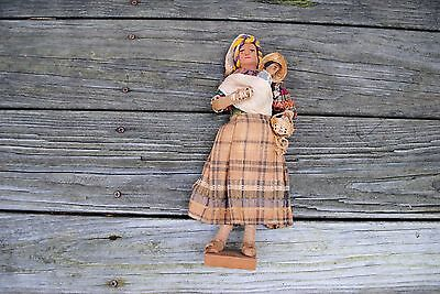 Vintage Indian Doll Carrying baby on Back