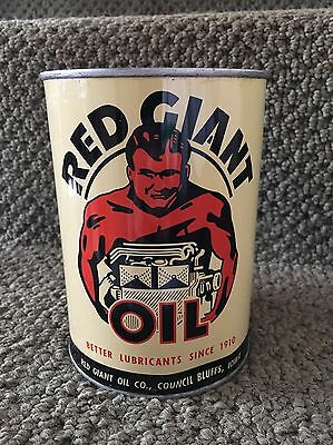 Vintage Red Giant Oil Can NOS