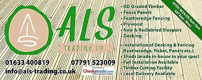 ALS TRADING LIMITED Sheds, Apex, Pent, Felt Roof, Double Doors, Hand-Made