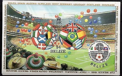 10 X Belize Stamps World Cup Winners 1986 Argentina With A $4.00 Stamp Yes 10