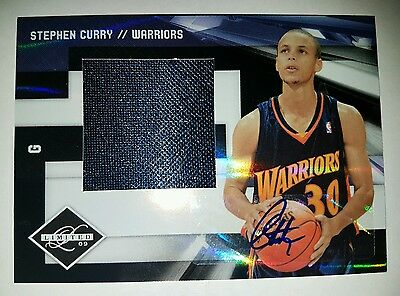 Steph Curry RC Jumbo Jersey Auto Panini Limited Rookie 09-10  #'d  04/49