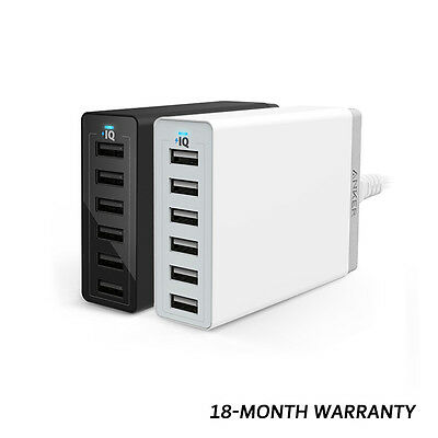 Anker 60W/12A 6-Port USB Wall Charger PowerPort 6 Power Cord-AU Desktop Charger