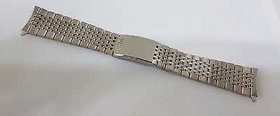 Mint Vintage 20 Mm Mido Stelux Stainless Steel Strap Band Bracelet Curved Ends
