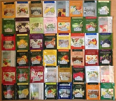 Ahmad Tea 48 Enveloped Assorted Different Flavoured Mixed Tea Bags Sachets