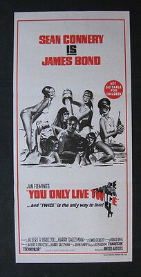YOU ONLY LIVE TWICE Orig Australian daybill movie poster James Bond Sean Connery